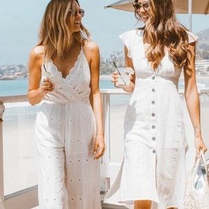 L*Space Ciara Ivory Jumpsuit Coverup